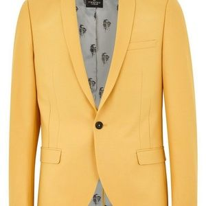 Topman Suits & Blazers - Twisted Tailor Yellow Skinny Fit Blazer
